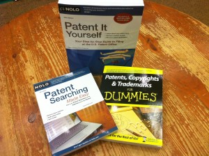 Various Books available with Patent information. (Photo by: Robin Hamilton/Full Sail University)